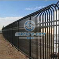 China Anti-theft Top Powder Coated Steel Fence