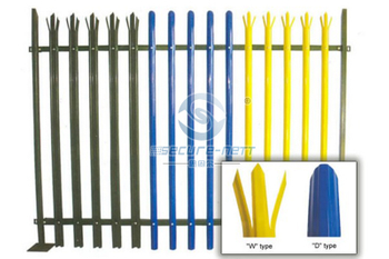 High security palisade fences