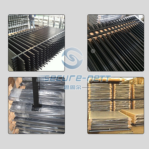 Chinese welded polyester coating ornamental iron railings