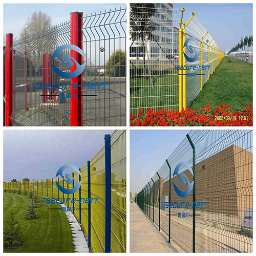 powder coated 3D curved wire mesh fence