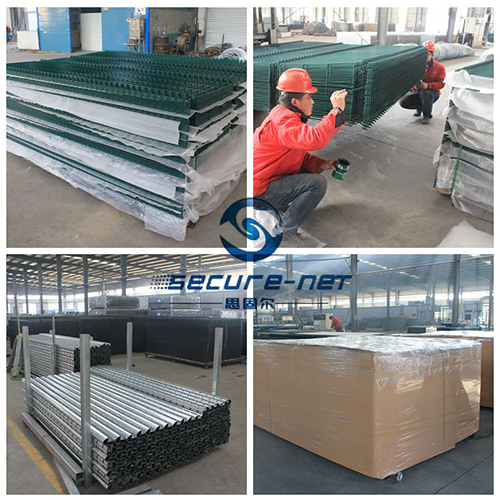 double wire pvc coated welded wire mesh fencing packaging