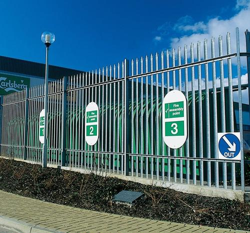 metal palisade security fencing